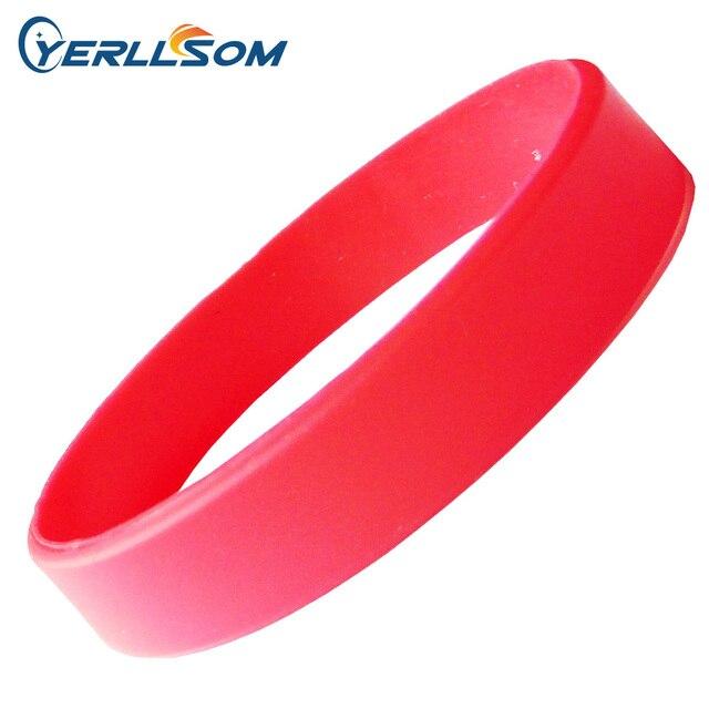 YERLLSOM 100 יח\חבילה באיכות גבוהה אדום, שחור, ורוד, כתום, כחול גומי סיליקון Wristbands לאירועים B041507