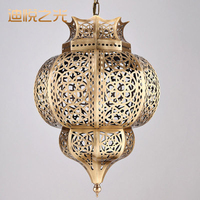 New European lamps and lanterns vintage restaurant chandeliers retro copper chandelier lighting Arab style