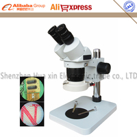 Binocular Stereo Microscope 20X 40X Zoom Stereo Microscope System 56 LED Ring Light For Mobile Phone