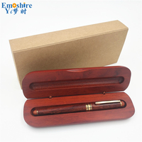 New Classic Roller Ball Pen Ballpoint Pens for Writing Supplies With Wooden Pencil Box Pencil Case for Business Gifts P107