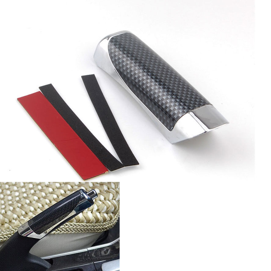 Universal Car Styling Carbon Fiber Style E Hand Brake Break Cover Handle Sleeve Protector Decoration Cover Case Car Accessories