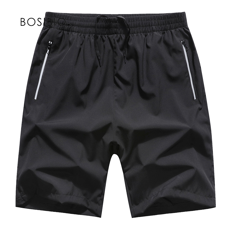 2018 Mens Shorts Black Solid Summer Quick Dry Clothing Elastic Waist Men Casual Shorts Plus Size 8XL Bermuda Masculina 1807
