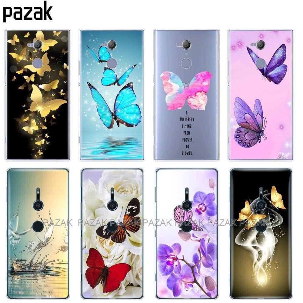 Силиконовый чехол для телефона sony xperia XA1 XA2 ULTRA PLUS L1 L2 XZ1 XZ2 compact XZ PREMIUM бабочка розы цветок|Специальные чехлы|   | АлиЭкспресс