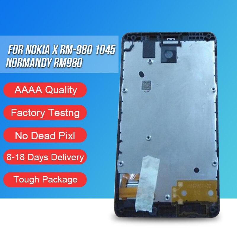 ACKOOLLA LCDs del teléfono móvil para Nokia X RM-980 1045 Normandía RM980 accesorios teléfono móvil LCD pantalla táctil