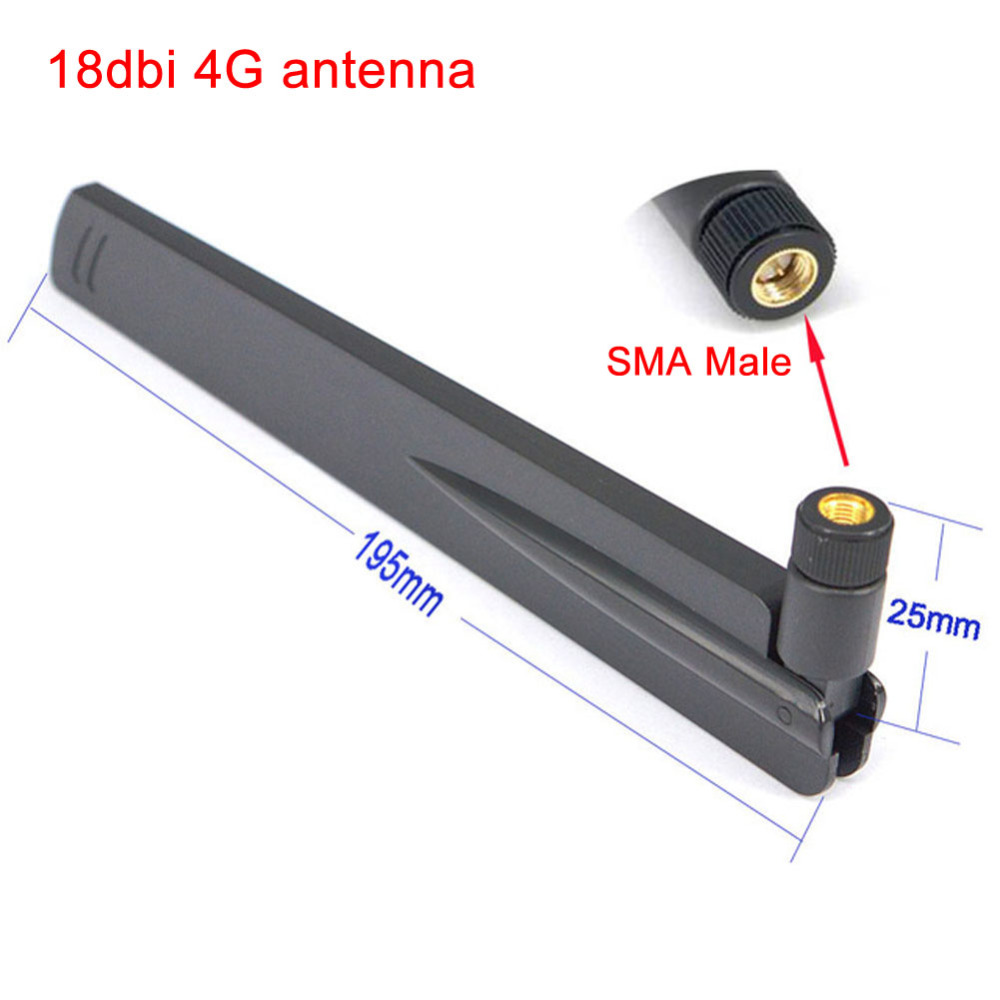 10 Pieces 2.4Ghz 18dbi Aerial Wireless WIFI Antenna SMA Male Booster Universal Antennas Amplifier WLAN Router Connector