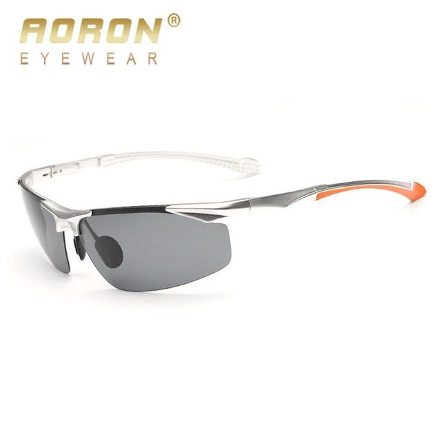 03dddaab5e AORON Men s Polarized Sunglasses With Aluminum Magnesium Outdoors Driver  Frame Goggle For Male Sports Glasses Eyewear 8585