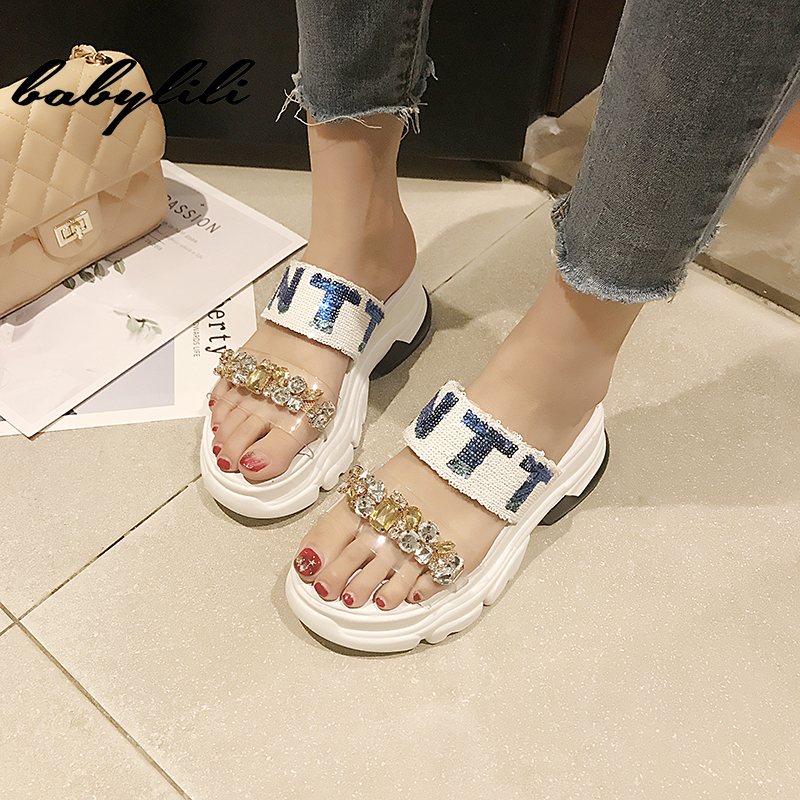 <font><b>Woman</b></font> <font><b>Slippers</b></font> 2019 Summer New <font><b>Wedge</b></font> Sandals <font><b>Sexy</b></font> Platform <font><b>Wedges</b></font> Sandals <font><b>Women</b></font> Fashion <font><b>High</b></font> <font><b>Heels</b></font> Female Sandals <font><b>Shoes</b></font> <font><b>Woman</b></font> image