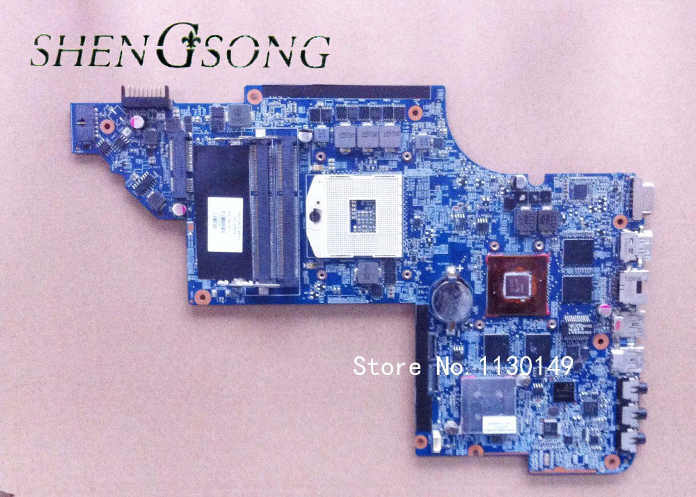 Original laptop Motherboard 650799-001 for HP PAVILION DV6 DV6-6000 motherboard HM65 HD6770/2G Notebook PC system board tested цена и фото