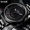QUEBRA de Luxo Marca de Moda Masculina Casual Masculino Clássico Relógio de Aço Cinta Militar Clássico de Negócios Do Esporte Relógio de Pulso De Quartzo Dom T25
