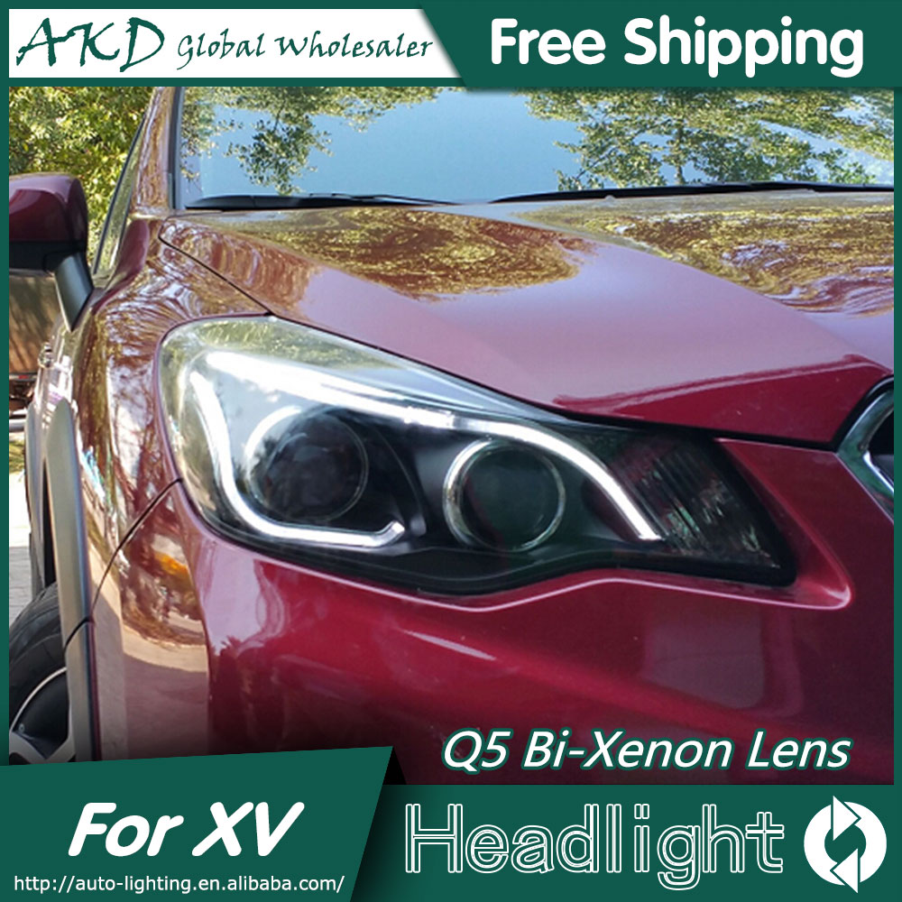 AKD Car Styling for 2012-2015 XV LED Headlight High Quality Headlights LED DRL Bi Xenon Lens High Low Beam Parking akd car styling for nissan teana led headlights 2008 2012 altima led headlight led drl bi xenon lens high low beam parking