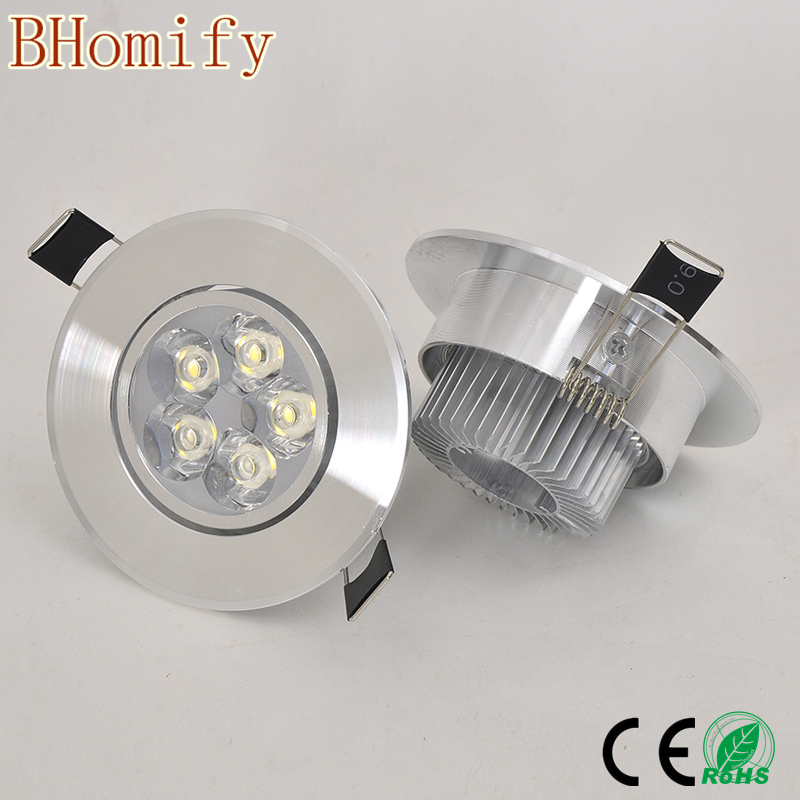 6w 9W 12w 15W 21W round led dimmable Ceiling light Epistar LED ceiling lamp Recessed Spot light 110V-220V led ceiling lamp