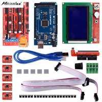 Miroad 3D Stampante Controller Kit per Arduino Mega 2560 Onu R3 Starter Kits + RAMPE 1.4 + A4988 Driver Del Motore + LCD 12864 K17