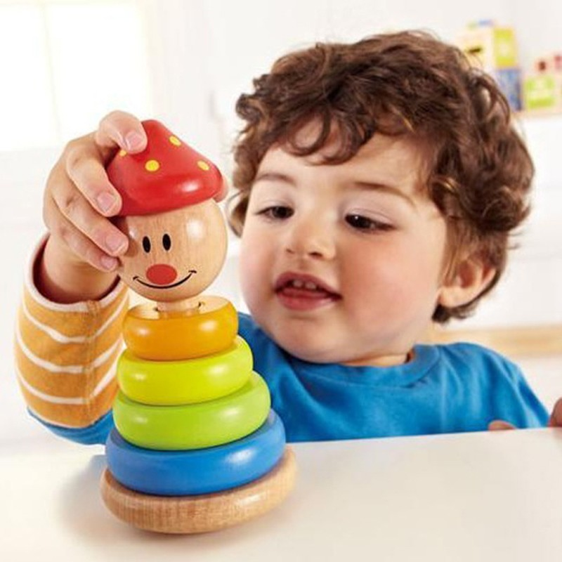 Clown tumbler Wooden Building Blocks Infant Toys Exquisite Wood Toy Montessori Child Gift