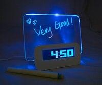 Miễn phí Vận Chuyển tên thương hiệu Mensaje reloj despertador LED đồng hồ kỹ thuật số luminous message board báo thức đa chức năng La sveglia
