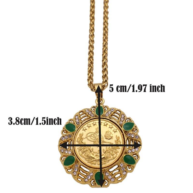 Image 2 - Islam muslim turkey Coin Arab Coin pendant  necklace    accept drop shippingPendants