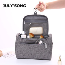 JULY'S SONG Multifunctional Travel Cosmetic Bag Waterproof Wash Toiletry Bag Solid Portable Organizer Make Up Cases new travel men organizer cosmetic bags daily essential portable hook make up pouch brand multifunctional woman toiletry bag case