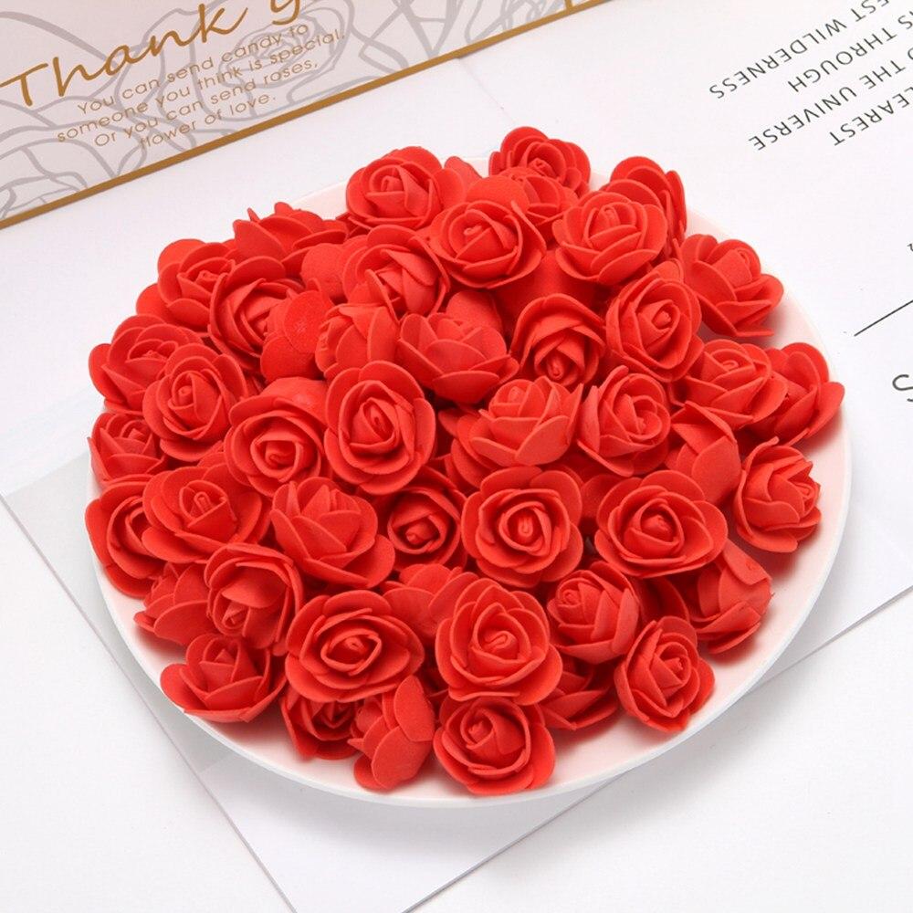 100 шт., искусственные мини-цветы для дома, 3,5 см