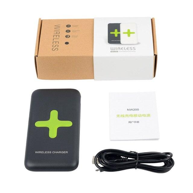 2 в 1 ЦИ БЕСПРОВОДНОЕ Зарядное Устройство Powerbank Портативный 7000 мАч Мобильный Банк Питания для iPhone Nokia Lumia 920 Nexus 4 5 6 7 Samsung Galaxy