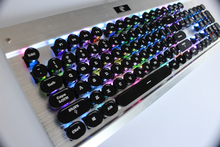 108 Keys Round Metal Keycap Steampunk Dreamer Personality Keycap Retro Typewriter Keycap For Wired USB Mechanical Keyboard