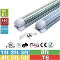 25 pcs 5ft 4ft SMD2835 T8 LED integrado tubo = 1200mm = 1500mm = 1800mm 8ft 6ft = 2400mm com 85-265 V Levou Tubo de luz Da Lâmpada Fluorescente