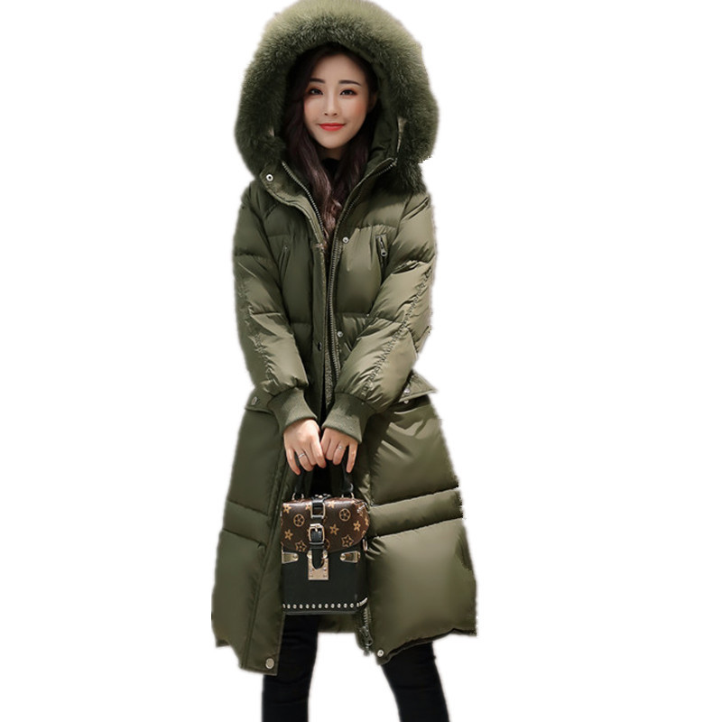 Warm Winter Down Cotton Real Fur Hooded Thick Fashion Parka Jacket Women Large Size Womens Winter Jackets Manteau Femme TT3416 2017 womens winter jackets and coats thick warm hooded down cotton padded parkas for women s winter jacket female manteau femme