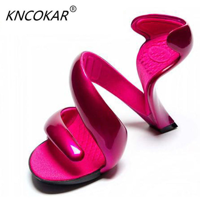 Valentineu0027s Day Gift Unique Design Special Shaped Nongrounded High Heel  Shoes Star Fashion High Heeled Sandals