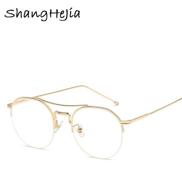 New 2018 Fashion Women Glasses Frame Men Eyeglasses Round Frame thom ...