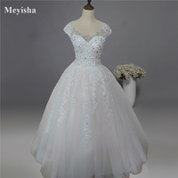 9013 2015 2016 New Style Fashion White Ivory Wedding Dresses For Brides Plus Size Maxi Formal