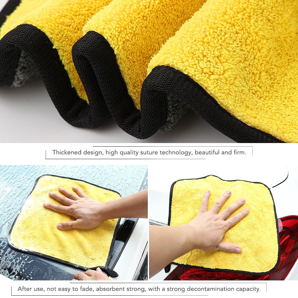 30*30CM Car Wash Microfiber Towel Car Cleaning Drying Cloth for Chevrolet Cruze Trax Aveo Lova Sail Epica Captiva Volt Camaro