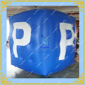 Blue 6.5ft Inflatable Cube Helium Balloon Big P Printing  2 meters Advertising Inflatable Ball for your business