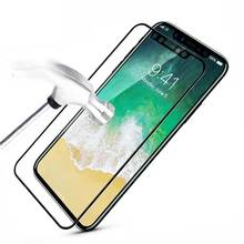 лучшая цена For iPhone X 8 7 6 6S Plus Tempered Glass Full Cover Screen Protector For iPhone X 8 7 6 6S Plus 5 5S SE Toughened Film