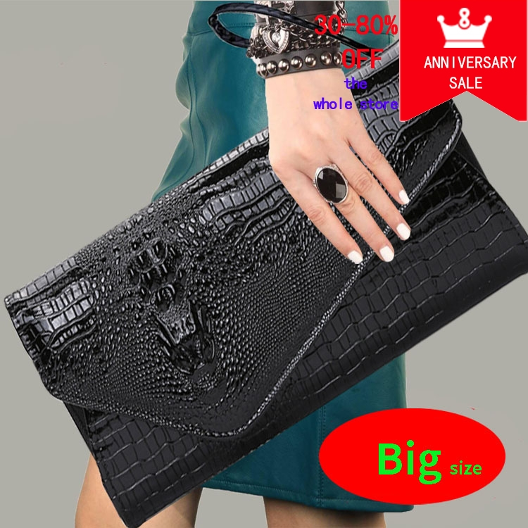 28x15cm Large Size Summer Women Clutch Bag Evening Wedding Clutch Purse Handbag With Gold Chain Envelope Party Day Clutch Bag trendy women s clutch with envelope and twist lock design