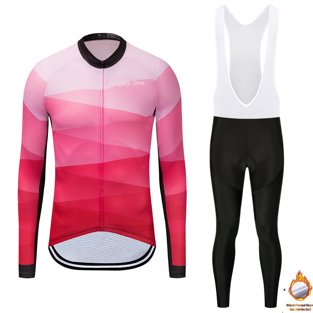 Firty Snow Cycearth New Thermal Fleece Cycling Jersey Winter Long Set Bicycle Clothing Bike Warm Maillot Ropa Ciclismo Pants