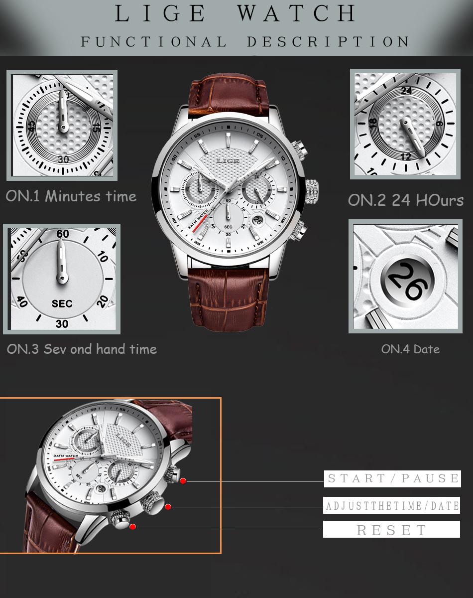 Reloj LIGE deportivo de moda 8