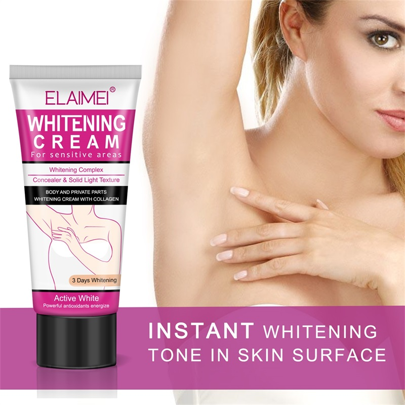 Beauty & Health 2019 New Style 50ml Armpit Whitening Cream Between Legs Knees Private Parts Underarm Whitening Formula Armpit Whitener Beauty Body Cream
