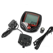 Hot Digital Bicycle Bike LCD Cycling Computer Odometer Speedometer Stopwatch BU outdoor cycling accessories