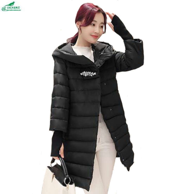 все цены на  New gloves cotton Outerwear women in the long section of thick winter hooded coat women's Korean cotton coat tide OKXGNZ QQ94  онлайн