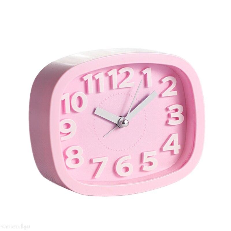 Candy Color Alarm Clock Kids Students Bedroom Desk Table Clock Living Room Home Decoration