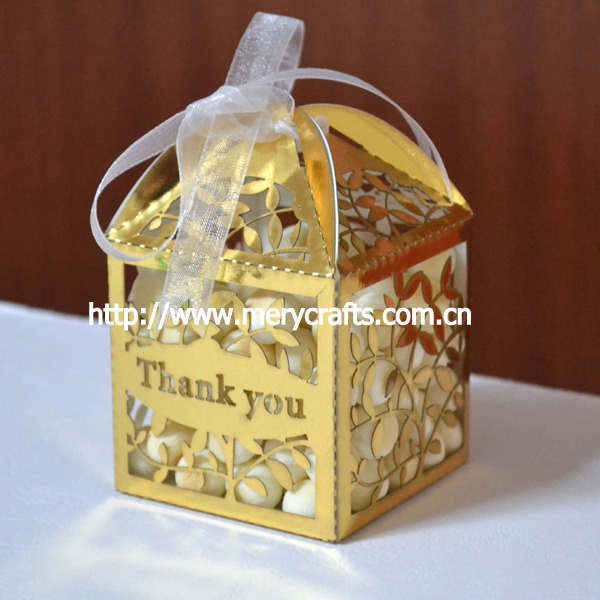 thanks you gifts bags thanks giveaways metallic gold paper laser box