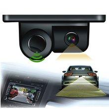 Новый 2 В 1 Авто Парктроник Звуковой Сигнал Заднего Хода Резервное Копирование видео Датчик Парковки Радар С HD Заднего Вида Камера Заднего вида Для автомобили