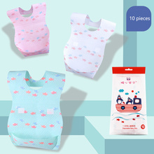 hot deal buy 10 pcs/set maternal and child supplies warm heart baby child bib bib baby disposable baby clothing product towel bandanas