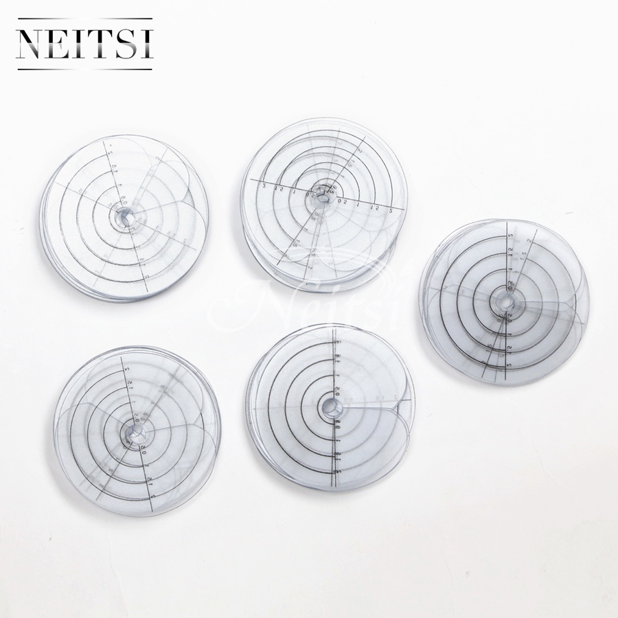 Neitsi 100 pieces Single Hole Template / Heat Shield Spacer Separator / PVC Protector For Fusion Feather Hair Extension Tools