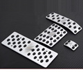 For Volkswagen VW Touareg 2004-2011 Sports Foot Pedal Rest Pedals AT Plate Brake Fuel Pads 4pcs