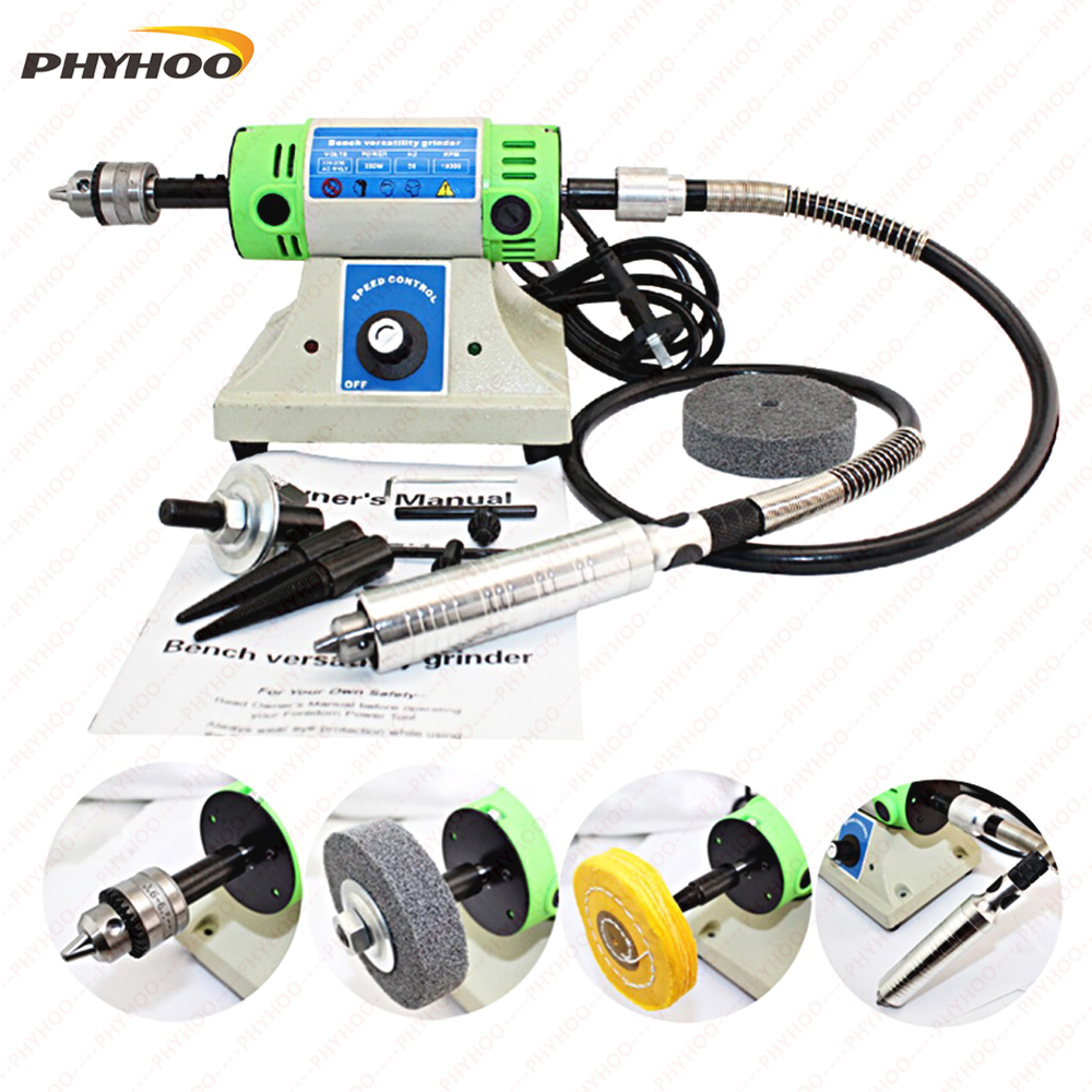 Multi-Function Desktop Grinding Machine Grinder Polishing Machine Carving Engrave Equipment Jewelry Making Tools