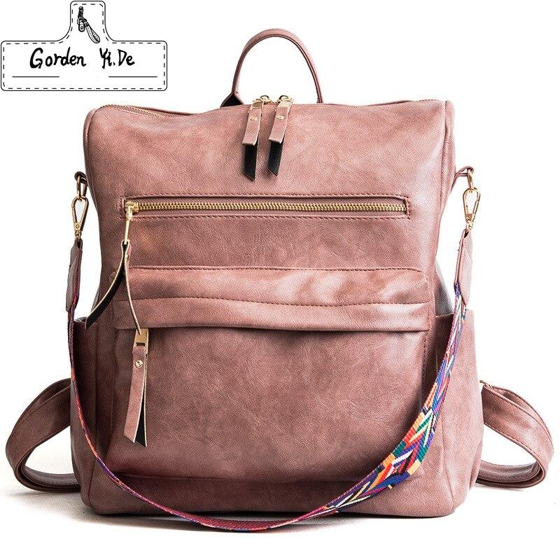 Women Cork Backpack PU Leather Shoulder School Rucksack Ladies Girls Travel Bags