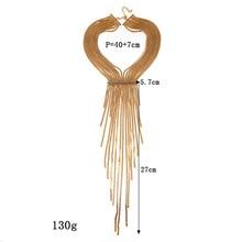 LZHLQ Bohemian Style Women Exaggerated Big Necklace Women Jewelry Long ChainTassel Personality Statement Style Choker collares