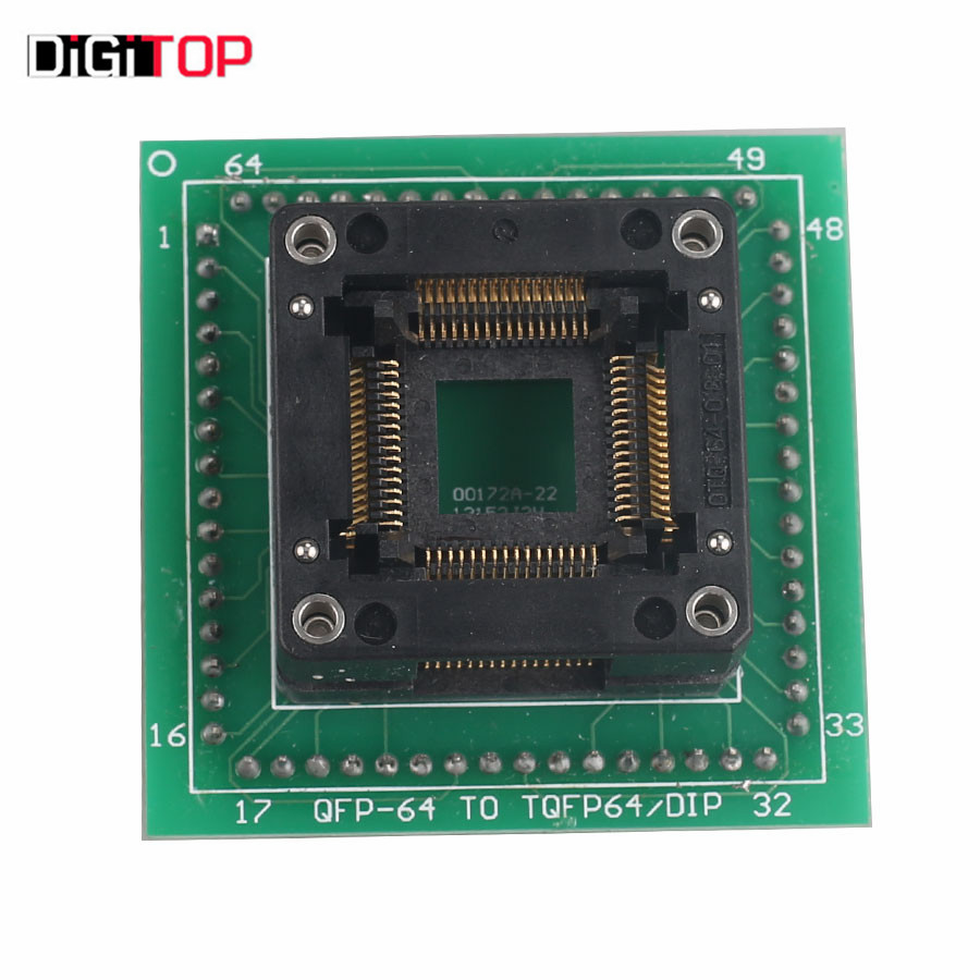 ФОТО For Motorola HC05 HC08 QFP64 Adapter for ETL Programmer and XPROG-M Works together with ETL programmer and XPROG-M Programmer