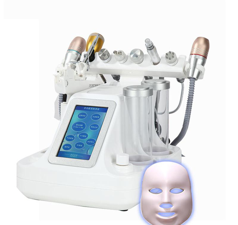 2019 New 11 In 1 Vacuum Face Pore Cleanser Massage Peeling Water Oxygen Jet Skin Lifting Facial Beauty Machine