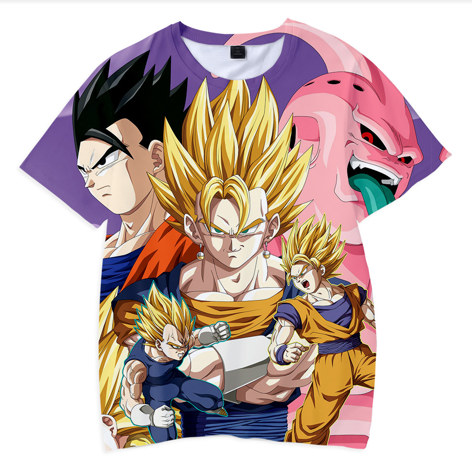 2019 New Summer childrens clothing 3D T-shirt boys and girls games Dragon Ball Tops fashion Clothes for big kids