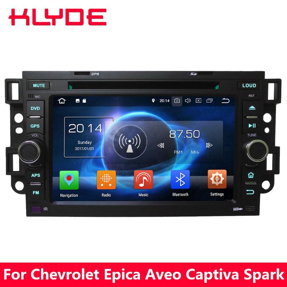 KLYDE 7 4 г WI-FI Octa Core Android 8,0 7,1 6,0 4 ГБ Оперативная память dvd-плеер автомобиля Радио BT для Chevrolet Optra Kalos Aveo T200 Captiva Matiz